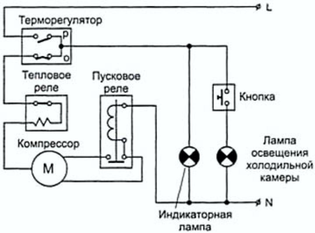 Электронная схема пускового реле бытового холодильника фото 322
