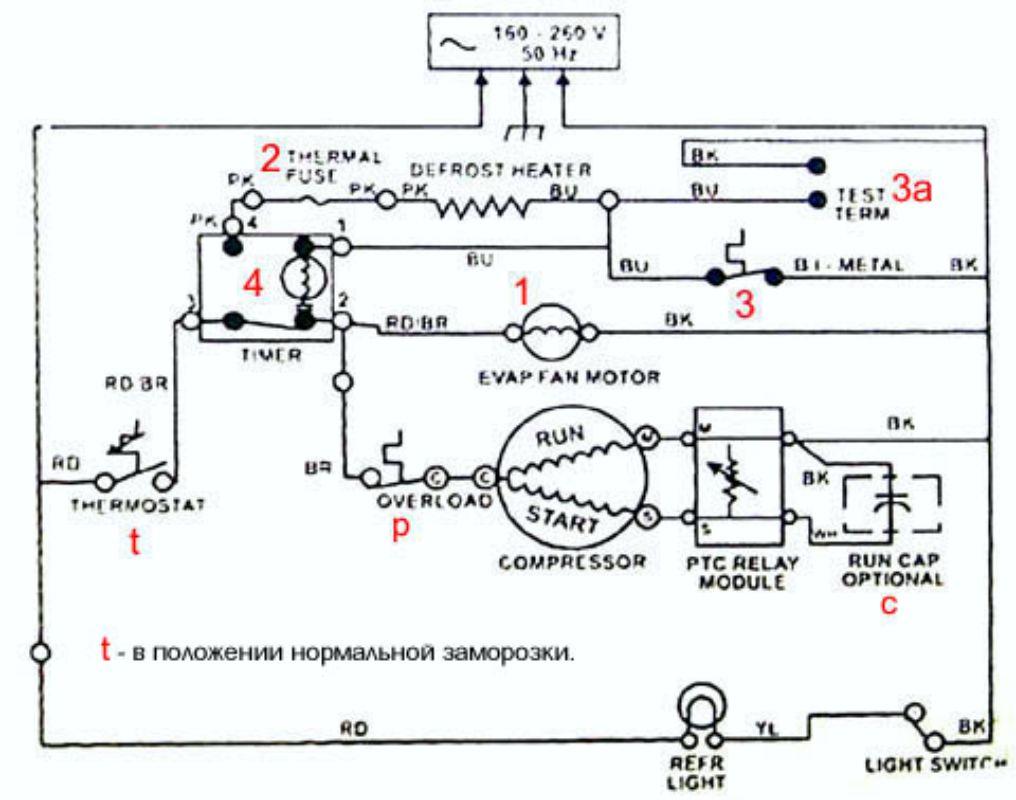 Электронная схема пускового реле бытового холодильника фото 301