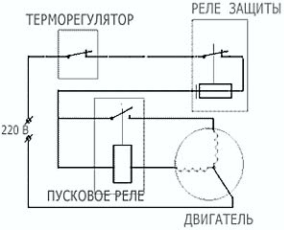 Электронная схема пускового реле бытового холодильника фото 8